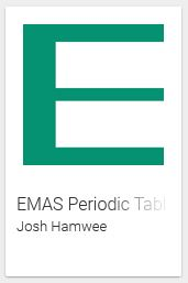 EMAS periodic table icon
